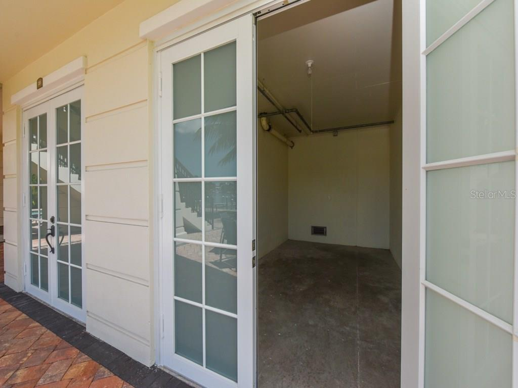 Cabana storage, perfect for bikes and stowing boating gear. One for each unit. - Condo for sale at 888 S Orange Ave #ph-C, Sarasota, FL 34236 - MLS Number is A4209372