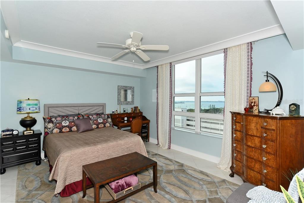 Spacious Master Bedroom, Gorgeous Water views! - Condo for sale at 1350 Main St #1106, Sarasota, FL 34236 - MLS Number is A4209424