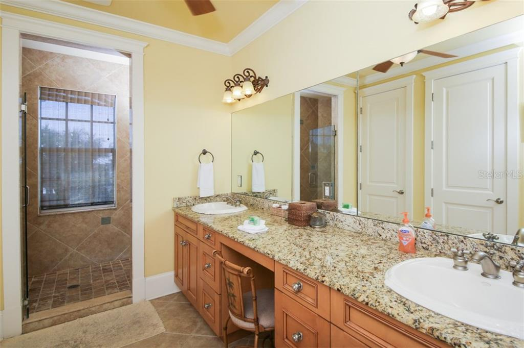 Master bathroom - Double vanity - solid core cabinets - Single Family Home for sale at 455 Canal Rd, Sarasota, FL 34242 - MLS Number is A4209817