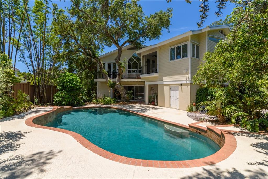 Arial View - Single Family Home for sale at 6609 Peacock Rd, Sarasota, FL 34242 - MLS Number is A4210220