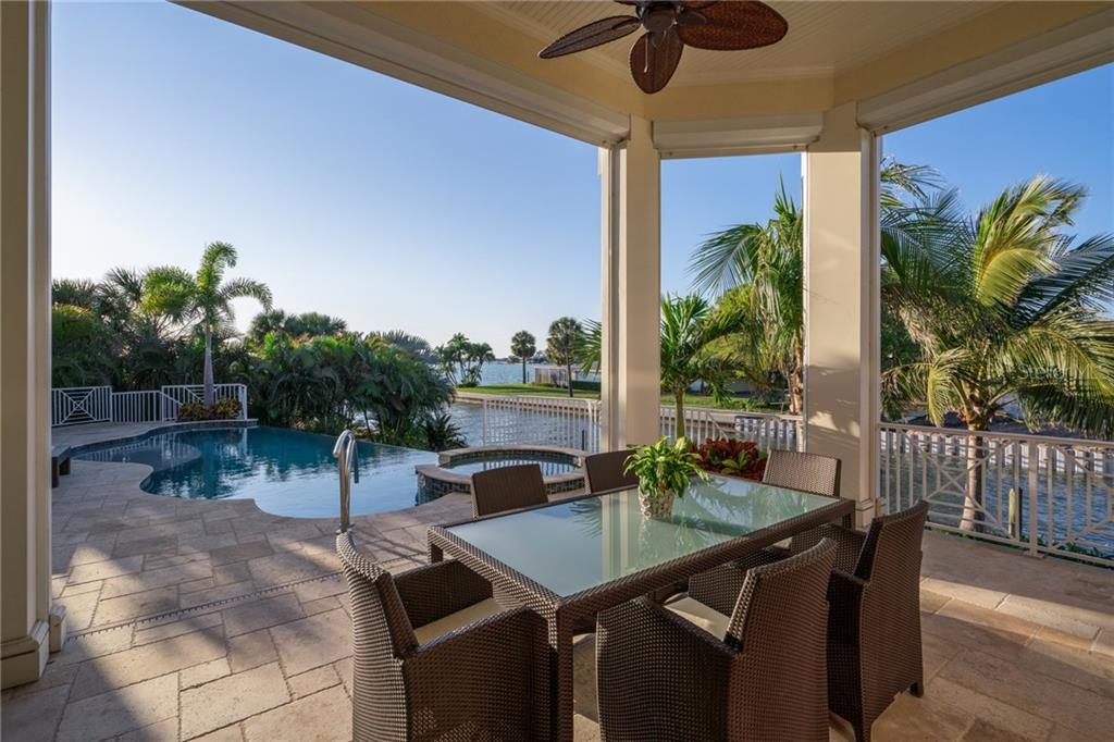 Covered lanai/outdoor dining - Single Family Home for sale at 1503 Blue Heron Dr, Sarasota, FL 34239 - MLS Number is A4212851