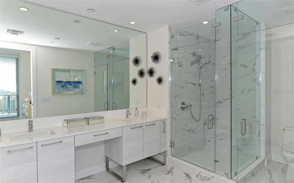 A sleek master bath - Condo for sale at 1155 N Gulfstream Ave #1504, Sarasota, FL 34236 - MLS Number is A4215032