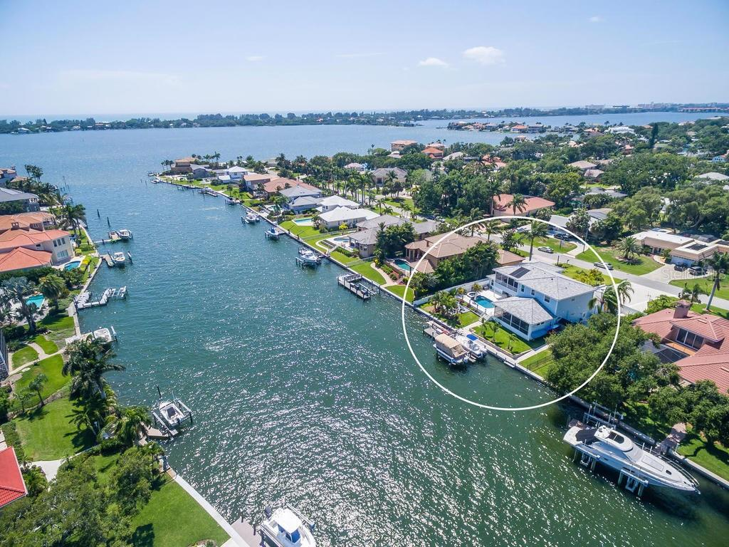 Welcome to Casa Azul. A boaters dream location directly on a deep water basin of Little Sarasota Bay.  Sailboat water and minutes to the Intracoastal.  This prime location with a coastal home built in 2016 if rare - Single Family Home for sale at 7643 Cove Ter, Sarasota, FL 34231 - MLS Number is A4403215