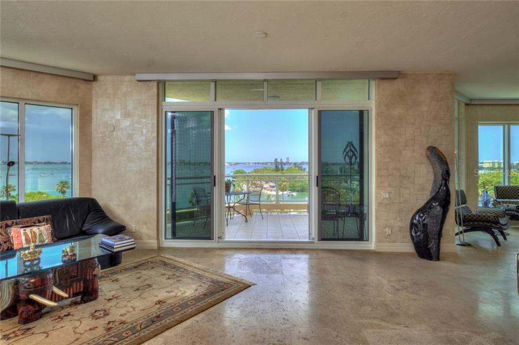 View  from kitchen - Condo for sale at 340 S Palm Ave #412, Sarasota, FL 34236 - MLS Number is A4403968