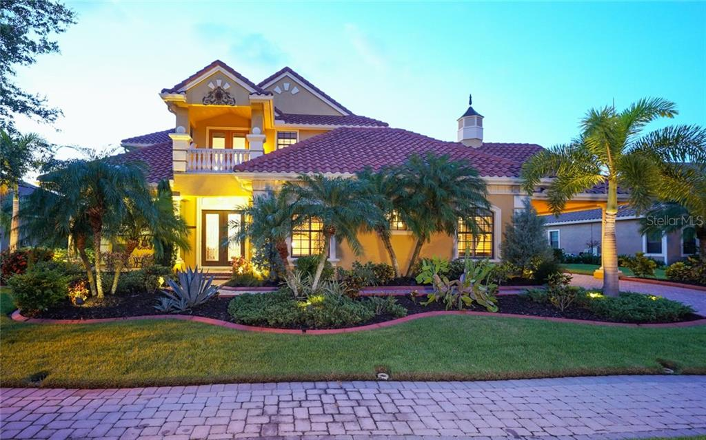 Beautiful night shot - Single Family Home for sale at 540 Fore Dr, Bradenton, FL 34208 - MLS Number is A4406084