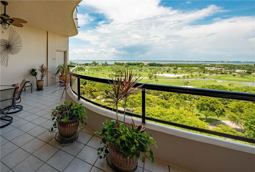 View from bayside terrace - Condo for sale at 435 L Ambiance Dr #k806, Longboat Key, FL 34228 - MLS Number is A4406683