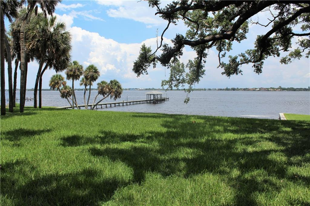 View from back yard - Single Family Home for sale at 4820 Riverview Blvd, Bradenton, FL 34209 - MLS Number is A4408263