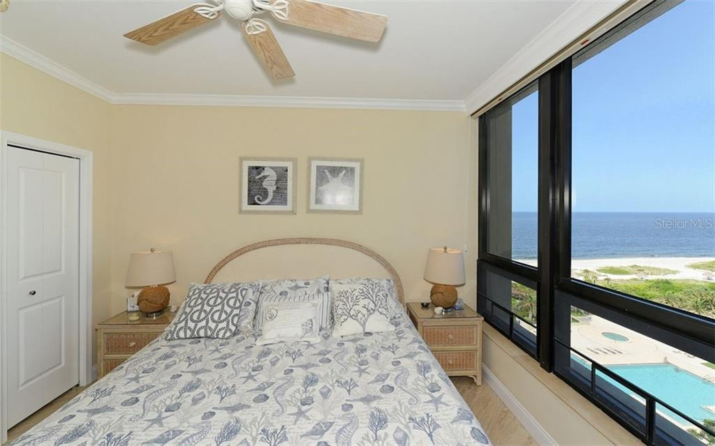 Guest Bedroom views of Gulf - Condo for sale at 1211 Gulf Of Mexico Dr #705, Longboat Key, FL 34228 - MLS Number is A4410234