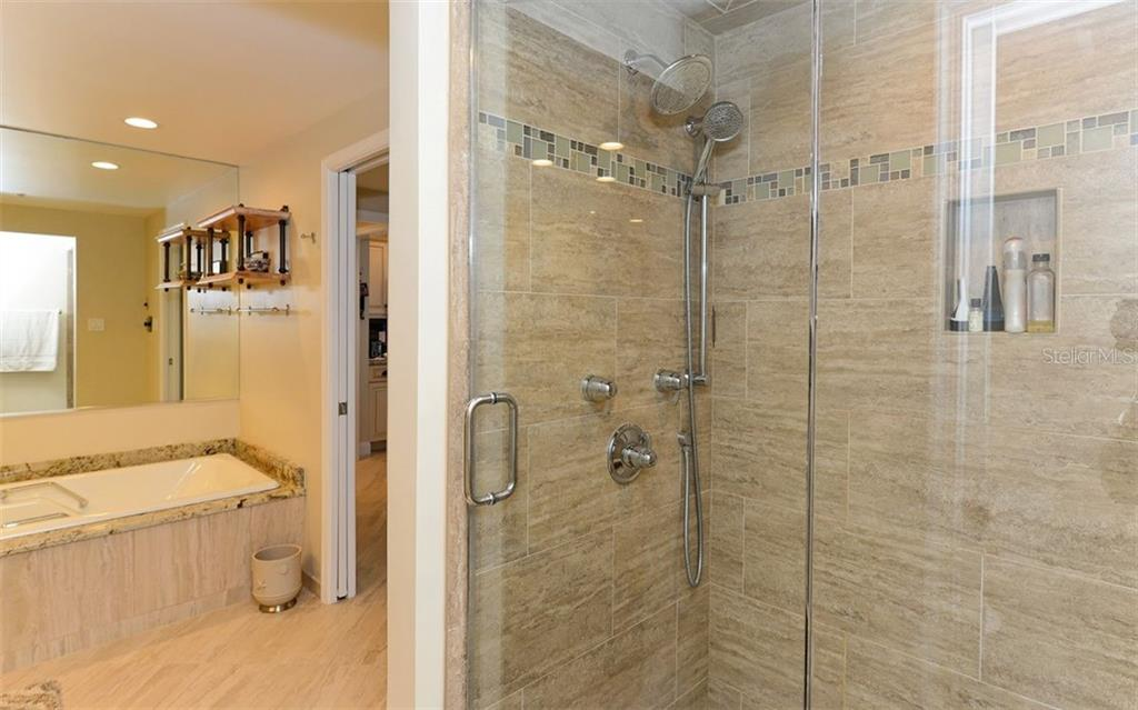 Master Bath Shower - Condo for sale at 1211 Gulf Of Mexico Dr #705, Longboat Key, FL 34228 - MLS Number is A4410234