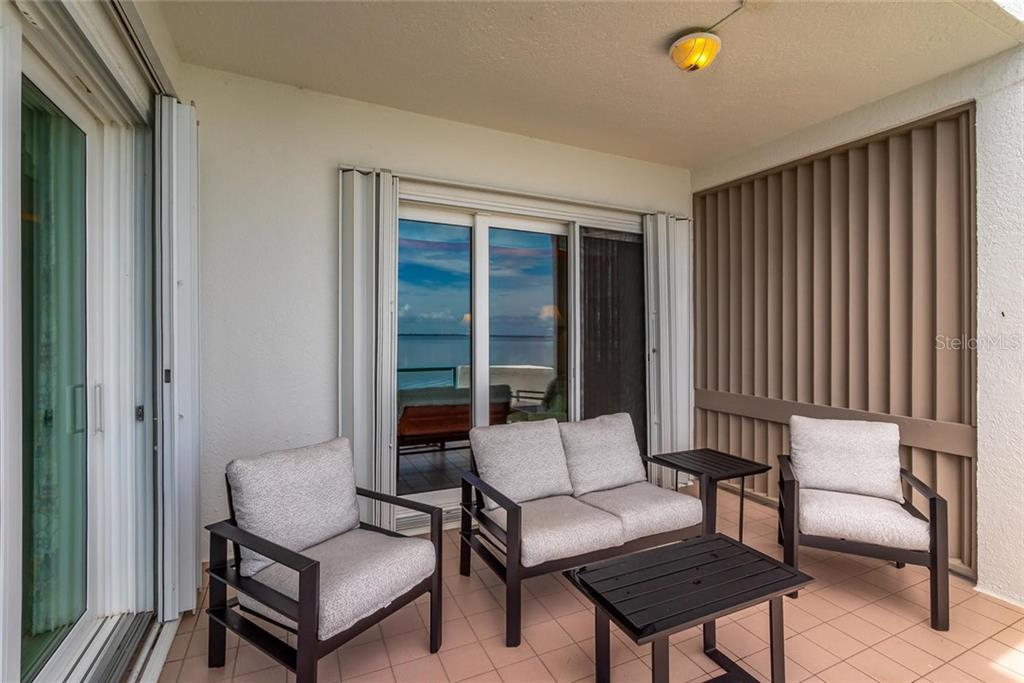 Private back terrace with sliding glass doors from the master bedroom and living room! - Condo for sale at 340 Gulf Of Mexico Dr #116, Longboat Key, FL 34228 - MLS Number is A4411000