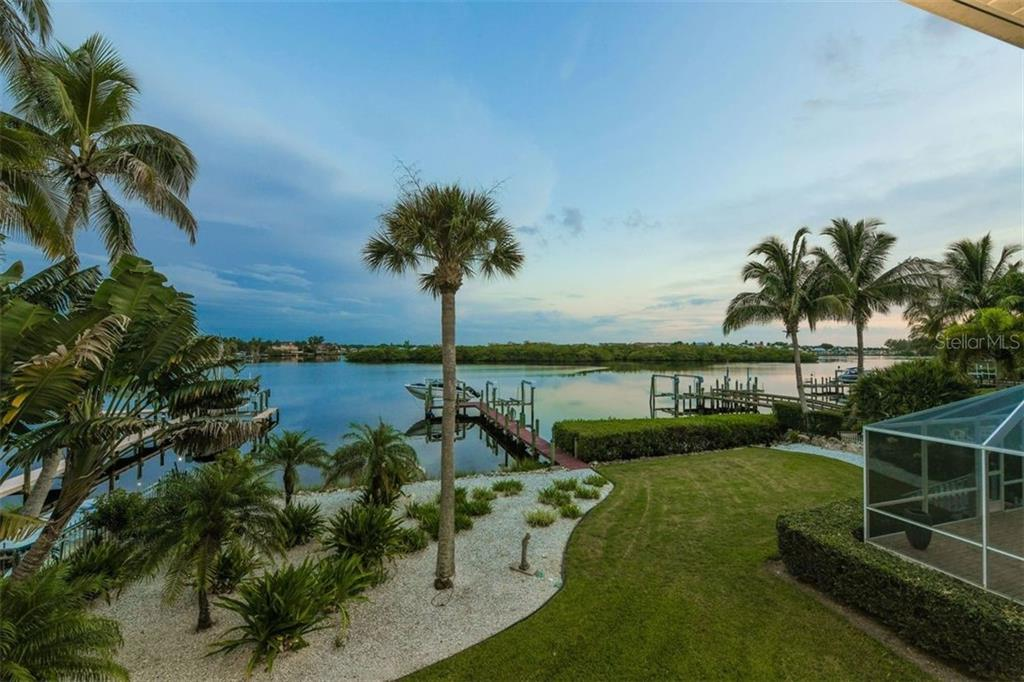 Evening tranquil view from Master. So blissful, listen to dolphin exhale. - Single Family Home for sale at 417 Bayview Pkwy, Nokomis, FL 34275 - MLS Number is A4411087