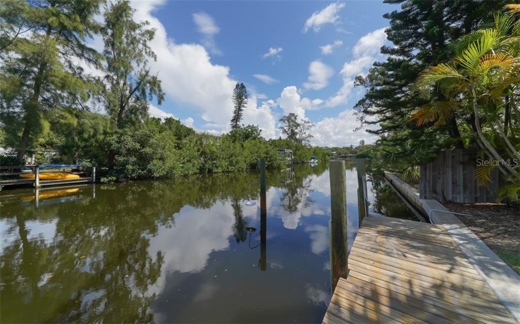Canal view from dock - Single Family Home for sale at 138 Island Cir, Sarasota, FL 34242 - MLS Number is A4412265