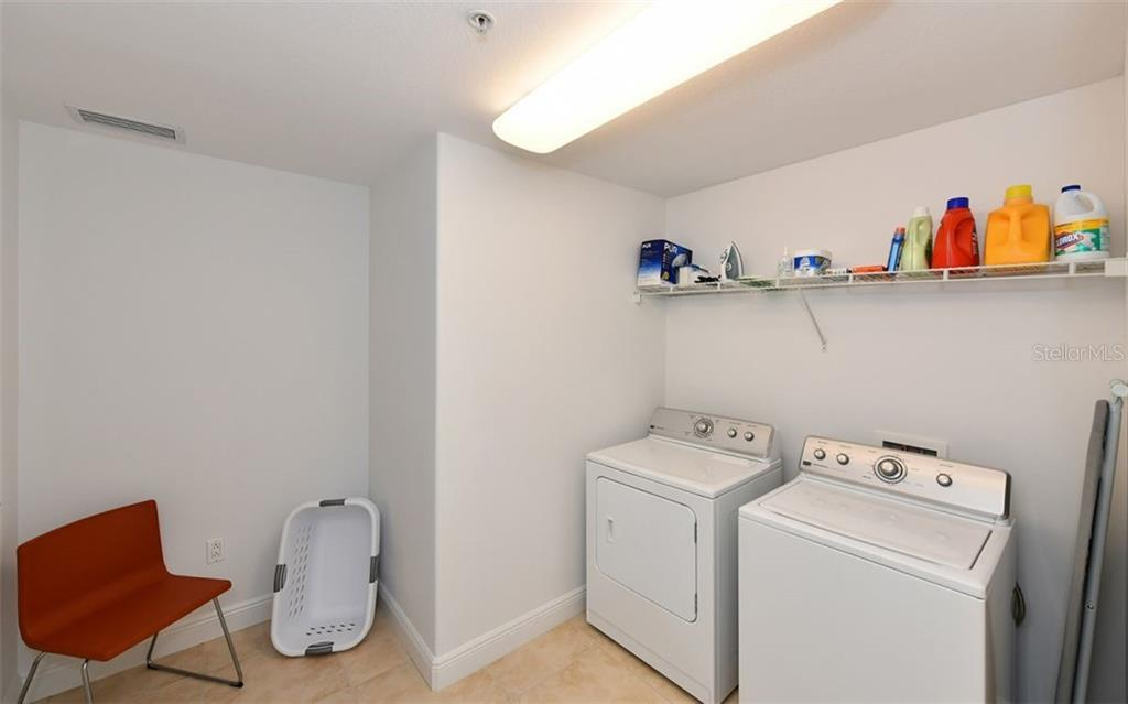 Spacious Laundry Room - Condo for sale at 1771 Ringling Blvd #1011, Sarasota, FL 34236 - MLS Number is A4414630