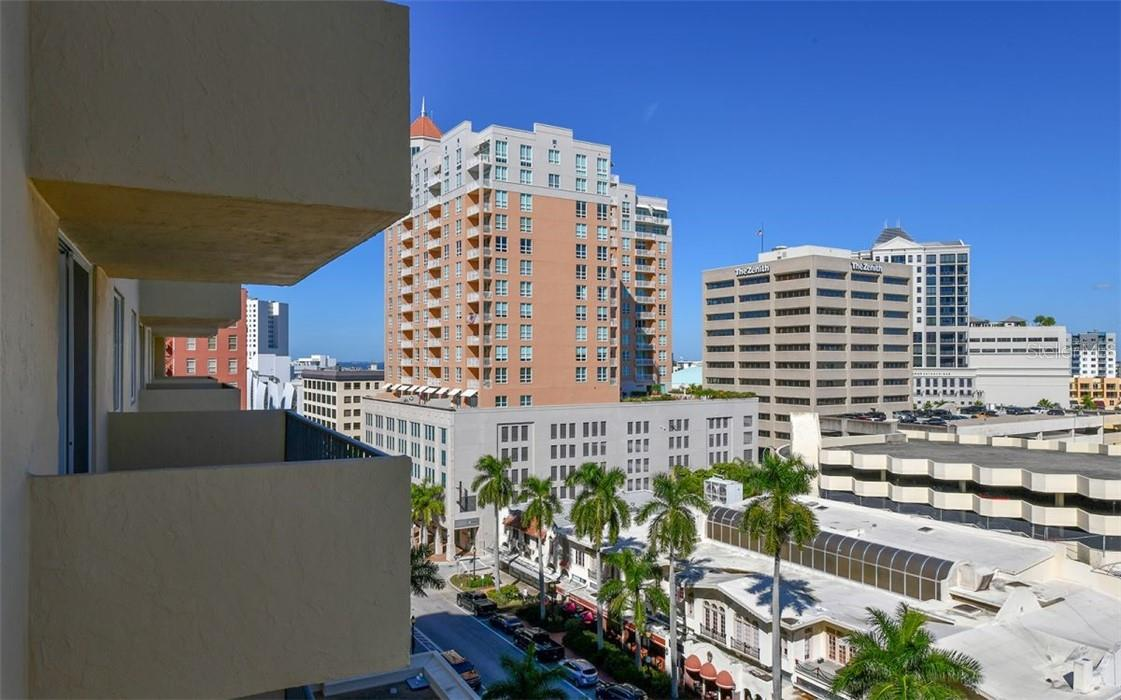 Balcony View facing East - Condo for sale at 101 S Gulfstream Ave #10d, Sarasota, FL 34236 - MLS Number is A4420377