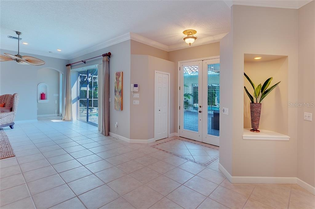 Entryway to the main house. - Single Family Home for sale at 2972 Jeff Myers Cir, Sarasota, FL 34240 - MLS Number is A4424133