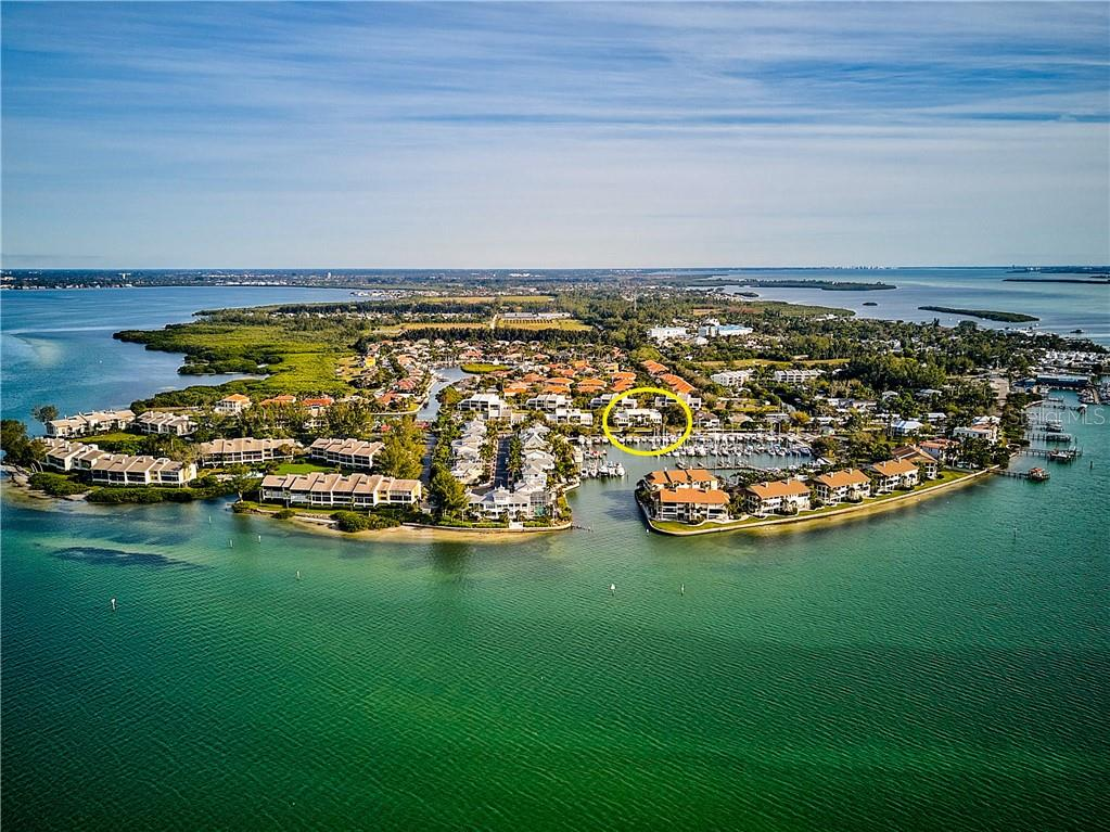 Aerial Water View of 4115 129th St W - Condo for sale at 4115 129th St W #4115, Cortez, FL 34215 - MLS Number is A4424939