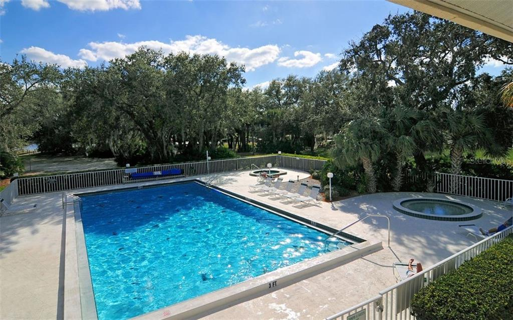 Waterfords heated pool and jacuzzi. Take a water aerobics class or just relax! - Single Family Home for sale at 1636 Liscourt Dr, Venice, FL 34292 - MLS Number is A4429524