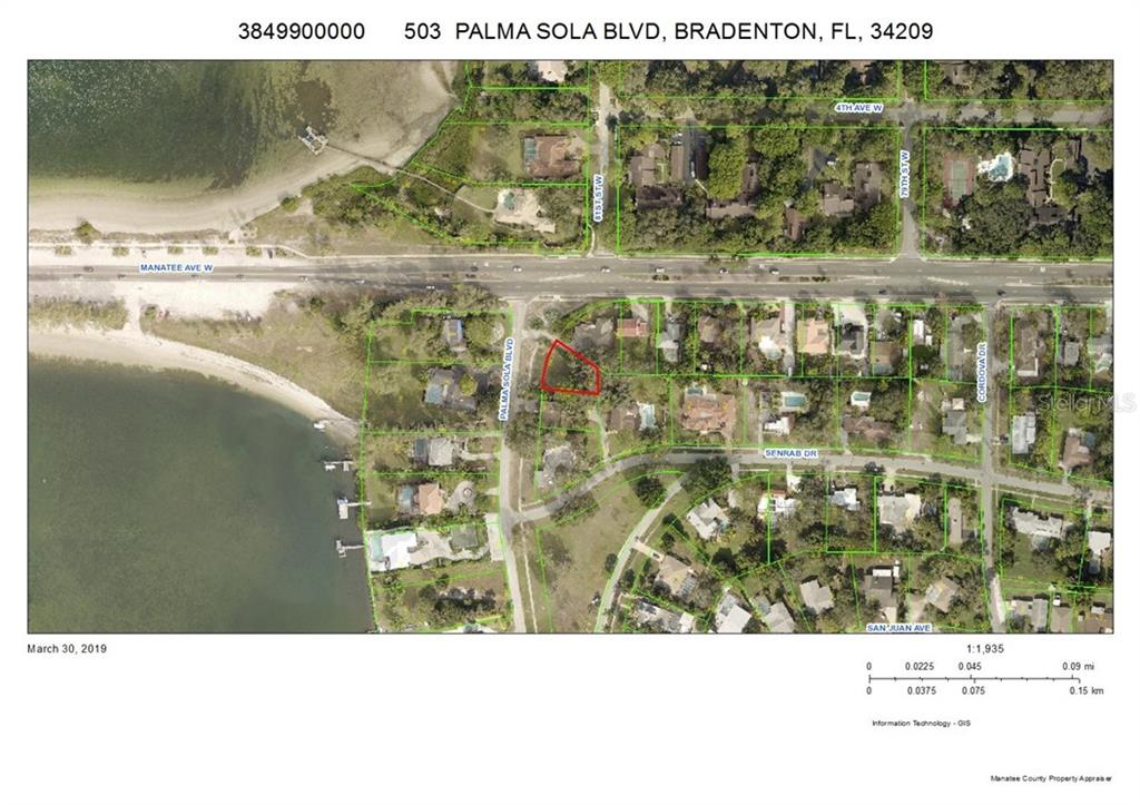 Vacant Land for sale at 503 Palma Sola Blvd, Bradenton, FL 34209 - MLS Number is A4431961