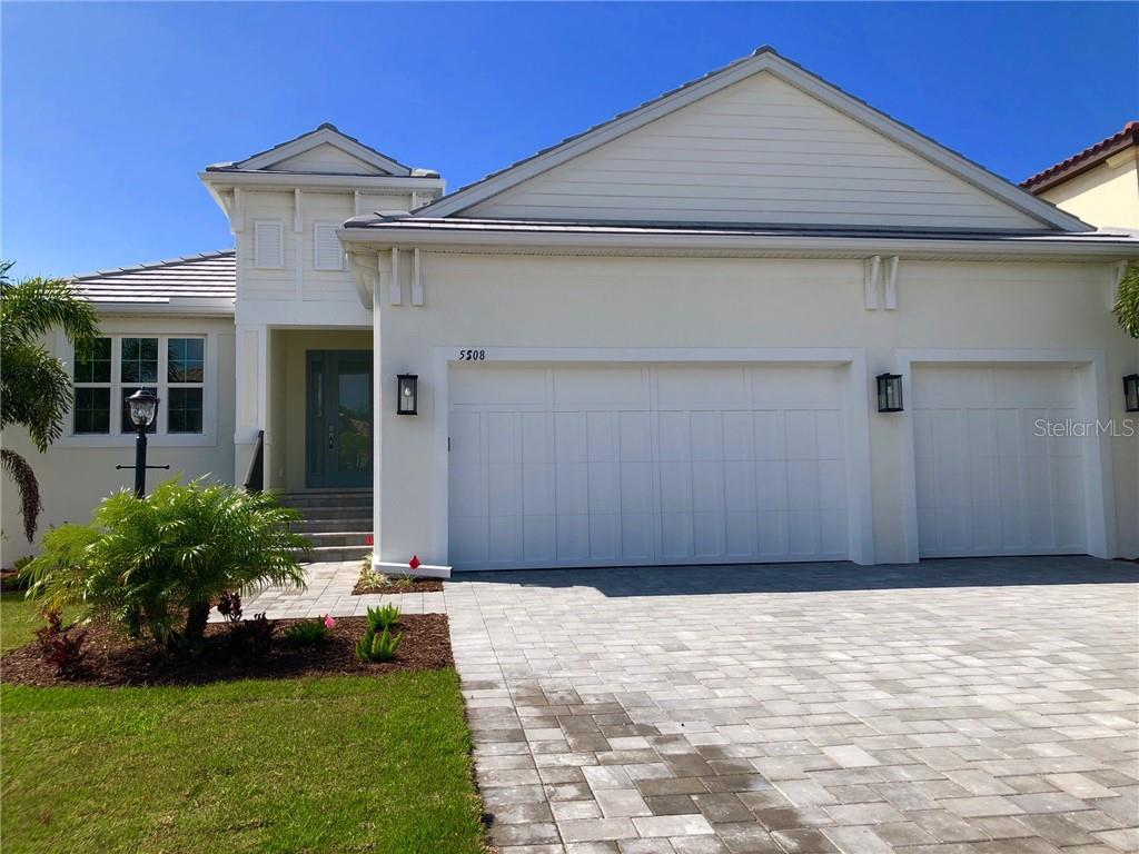 Ready to move in St Thomas by Medallion Home. This Coastal beauty is available in the gated community of Legends Bay. 3 bedrooms + den, 3 bathrooms and 3 car garage! - Single Family Home for sale at 5508 Title Row Dr, Bradenton, FL 34210 - MLS Number is A4433375
