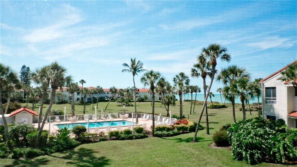 Lovely Gulf view from the lanai, living room & master bedroom - Condo for sale at 7145 Gulf Of Mexico Dr #24, Longboat Key, FL 34228 - MLS Number is A4433880