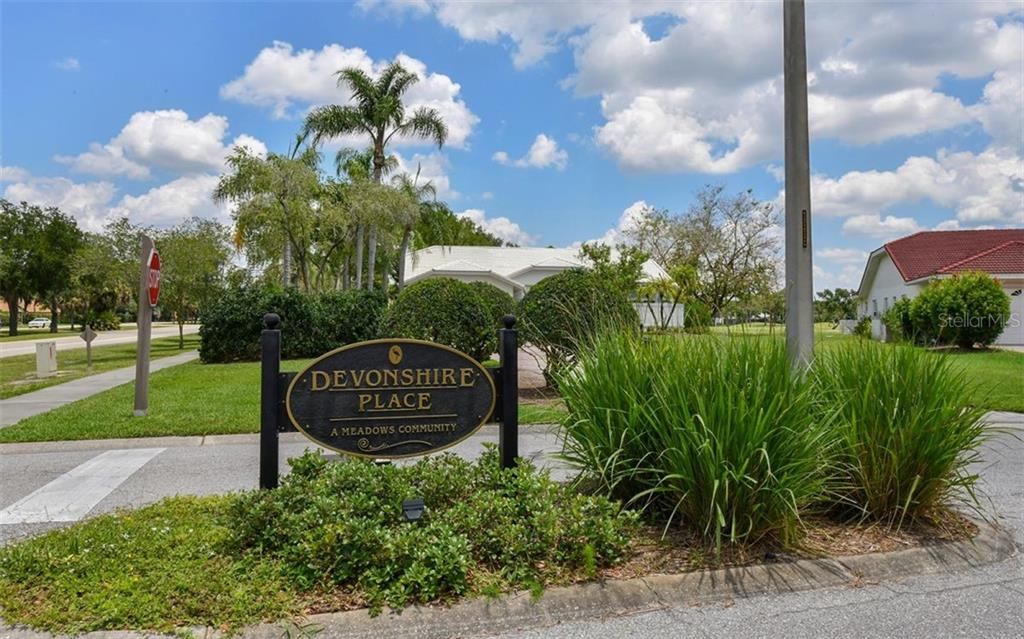 Entry to Devonshire Place - Single Family Home for sale at 5401 Downham Meadows, Sarasota, FL 34235 - MLS Number is A4436577