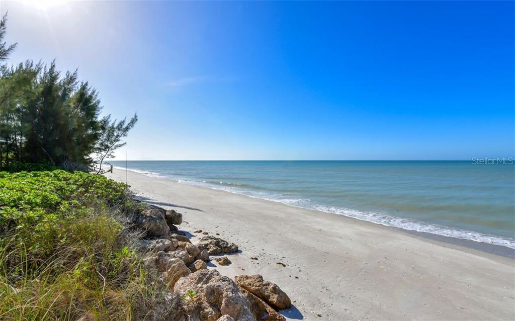 Revetment and beach to south - Single Family Home for sale at 3809 Casey Key Rd, Nokomis, FL 34275 - MLS Number is A4437924