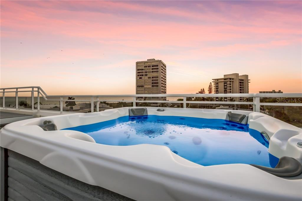 Inviting Hot Tub with a spectacular view. - Condo for sale at 301 Beach Rd #301-1, Sarasota, FL 34242 - MLS Number is A4438015