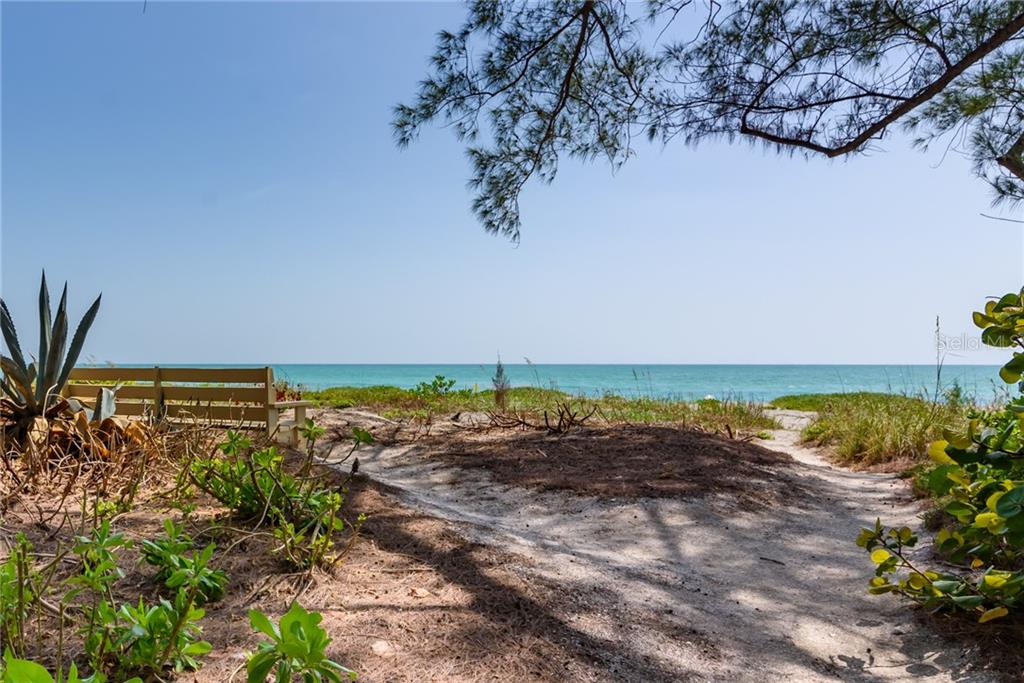 Gulf of Mexico view from Cabana - Single Family Home for sale at 8511 Heron Lagoon Cir, Sarasota, FL 34242 - MLS Number is A4439489