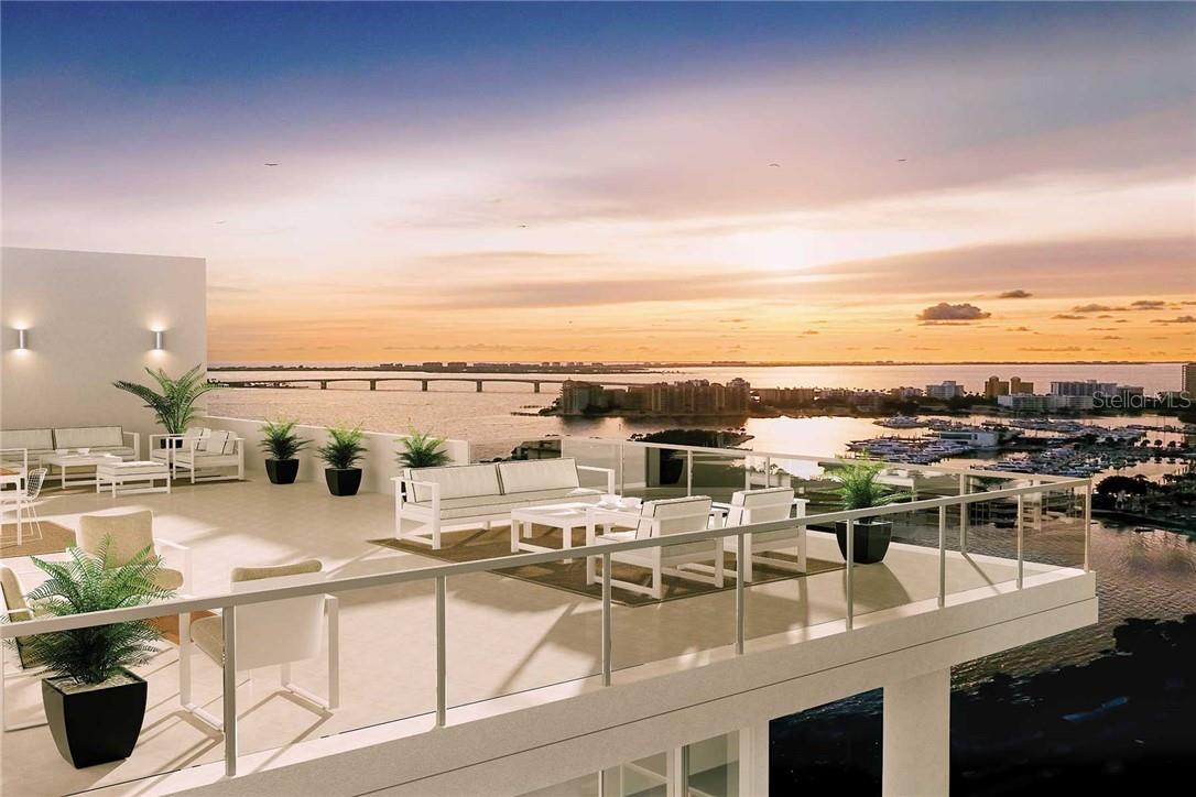 Toast the sunset high above the city at EPOCH's stunning rooftop terrace...it's an eagle eye's view, beyond compare. - Condo for sale at 605 S Gulfstream Ave #12, Sarasota, FL 34236 - MLS Number is A4441150