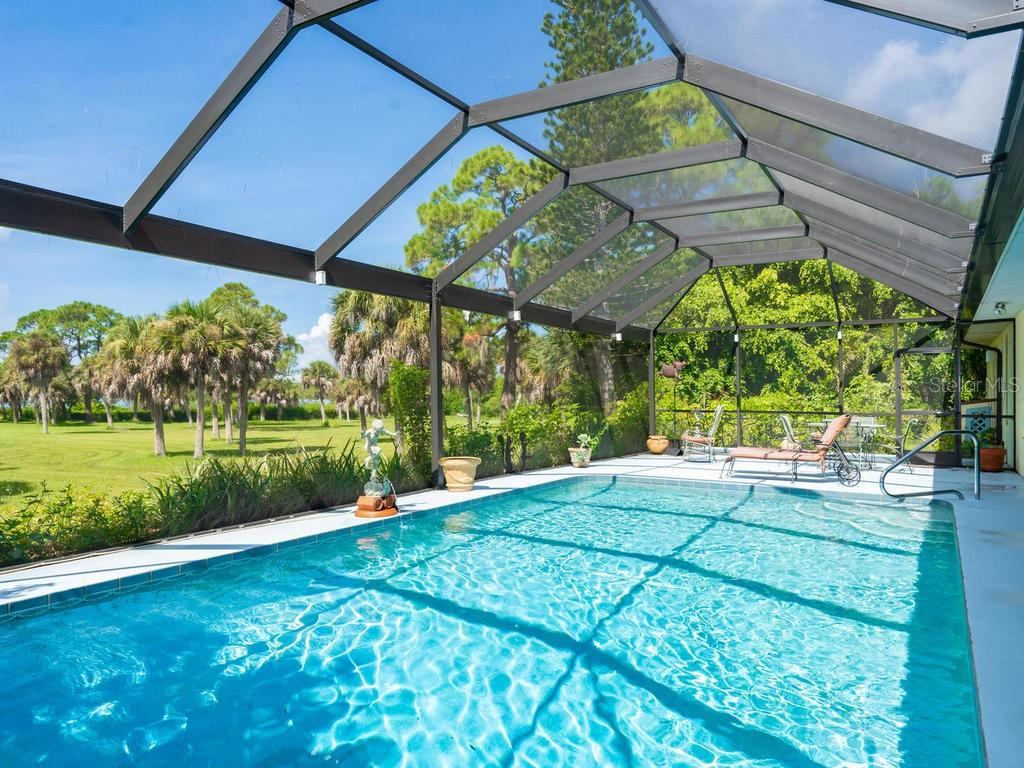 New Pool Enclosure with ClearView Screen - Single Family Home for sale at 1716 Bayshore Dr, Englewood, FL 34223 - MLS Number is A4445961