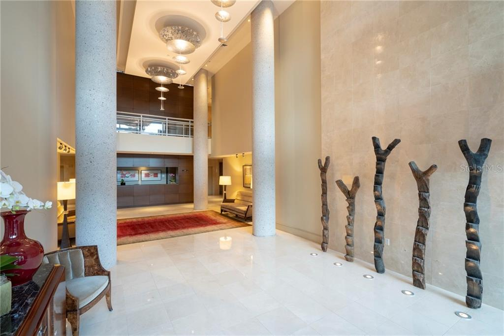 Savoy on Palm lobby. - Condo for sale at 401 S Palm Ave #402, Sarasota, FL 34236 - MLS Number is A4446224