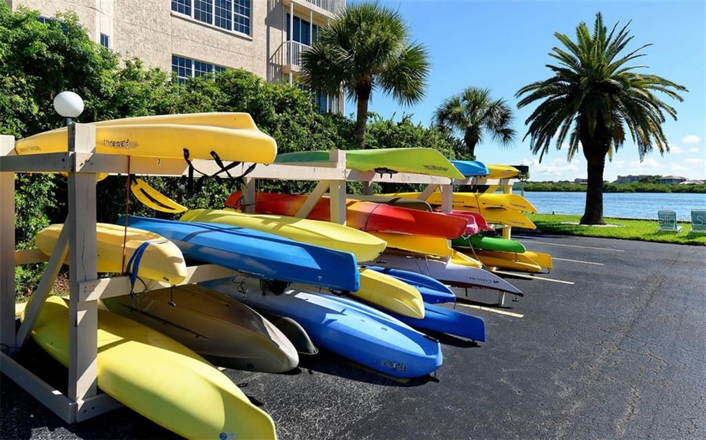 Kayak Rack - Condo for sale at 5855 Midnight Pass Rd #429, Sarasota, FL 34242 - MLS Number is A4446942