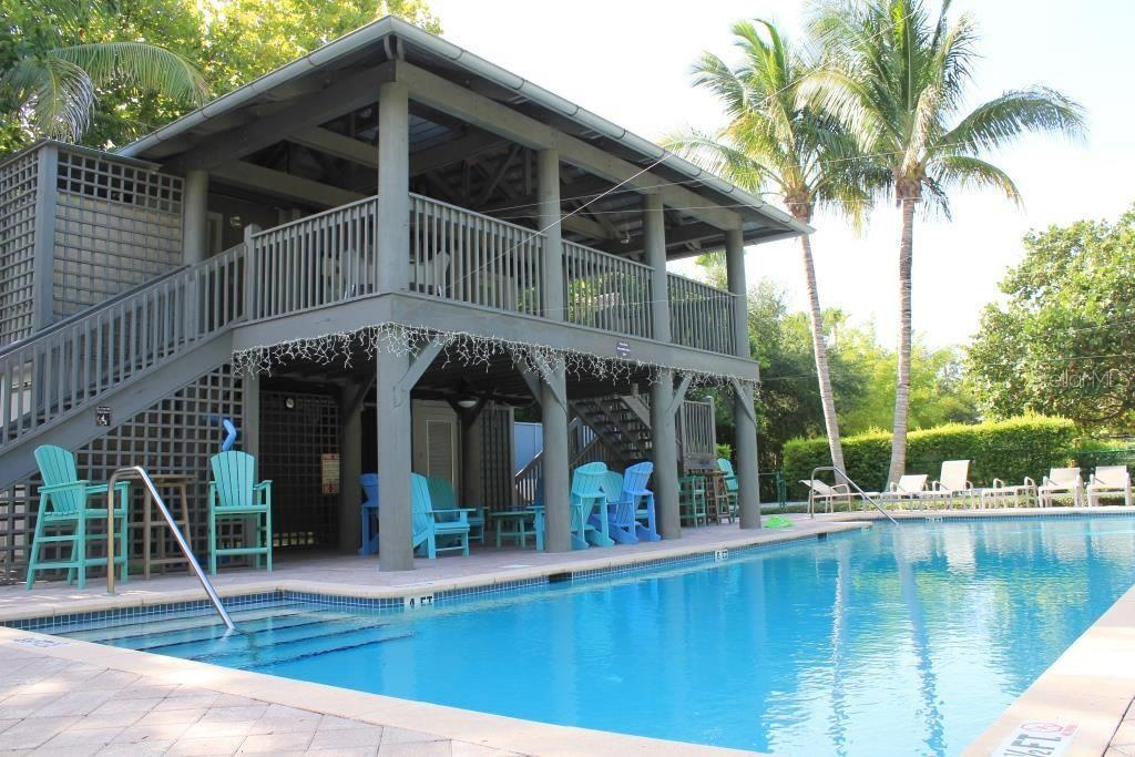 Aerial - Conrad Beach Pool - Single Family Home for sale at 7010 Firehouse Rd, Longboat Key, FL 34228 - MLS Number is A4449332