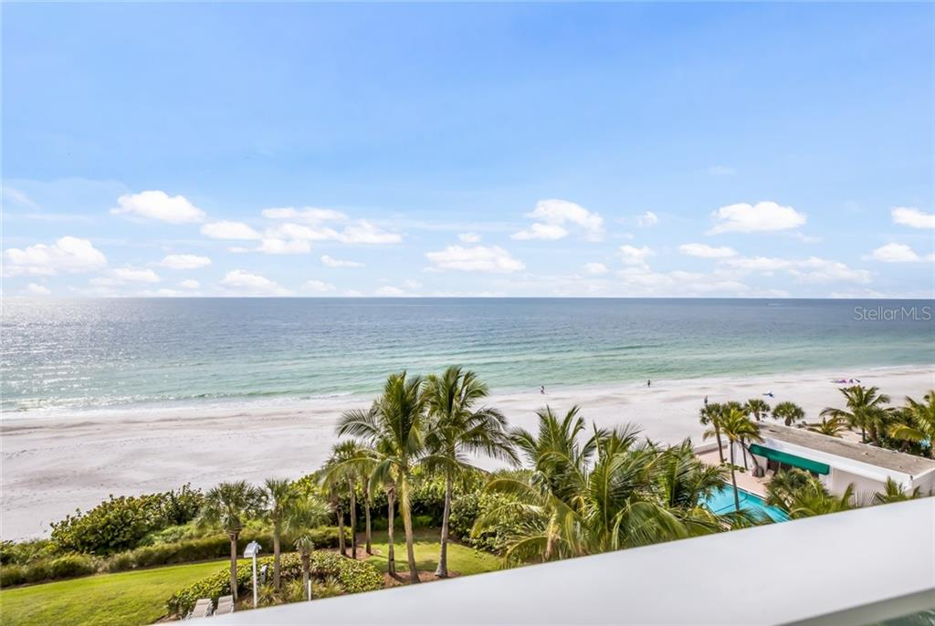 Actual views from living room terrace. Facing west northwest. - Condo for sale at 1800 Benjamin Franklin Dr #b506, Sarasota, FL 34236 - MLS Number is A4451047