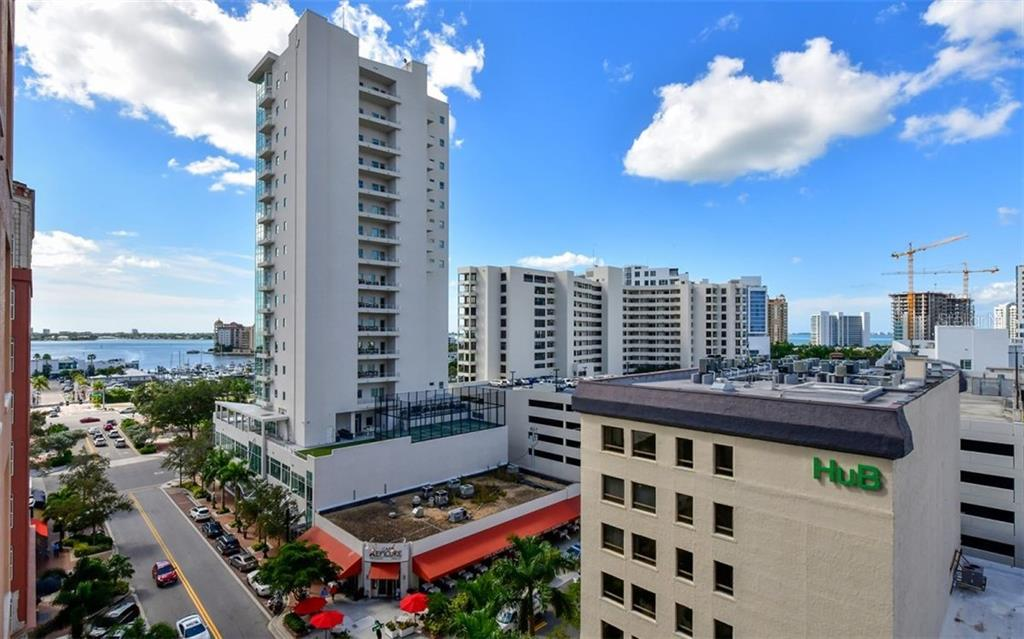 Looking over the city - Condo for sale at 1350 Main St #804, Sarasota, FL 34236 - MLS Number is A4451085