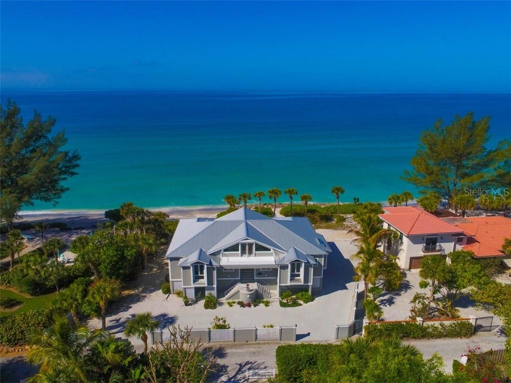 Breathtaking Full Gulf Front Views. Privacy and tranquility from this spectacular residence. - Single Family Home for sale at 1027 N Casey Key Rd, Osprey, FL 34229 - MLS Number is A4451976