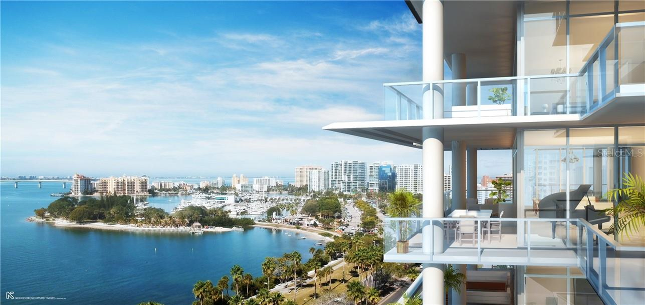 A stunning addition to the downtown Sarasota skyline; located between Palm & Gulfstream Avenues, where the city meets the bay. - Condo for sale at 605 S Gulfstream Ave #15, Sarasota, FL 34236 - MLS Number is A4453705