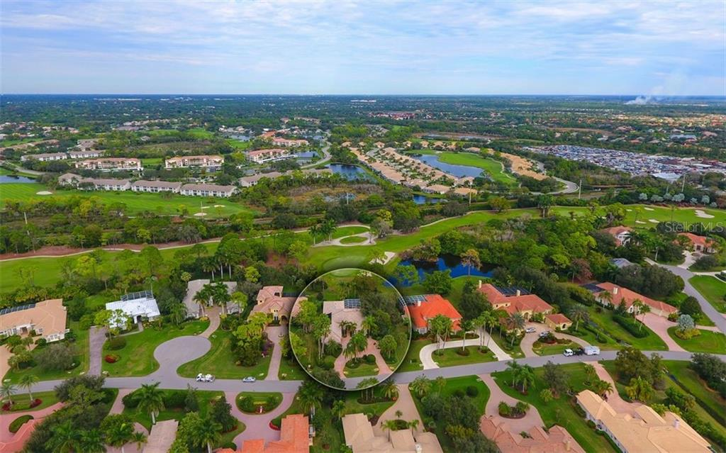 Aerial - Single Family Home for sale at 574 N Macewen Dr, Osprey, FL 34229 - MLS Number is A4455085