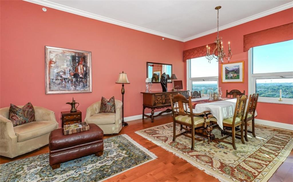 Great room showing the dining room - Condo for sale at 1771 Ringling Blvd #ph305, Sarasota, FL 34236 - MLS Number is A4455755