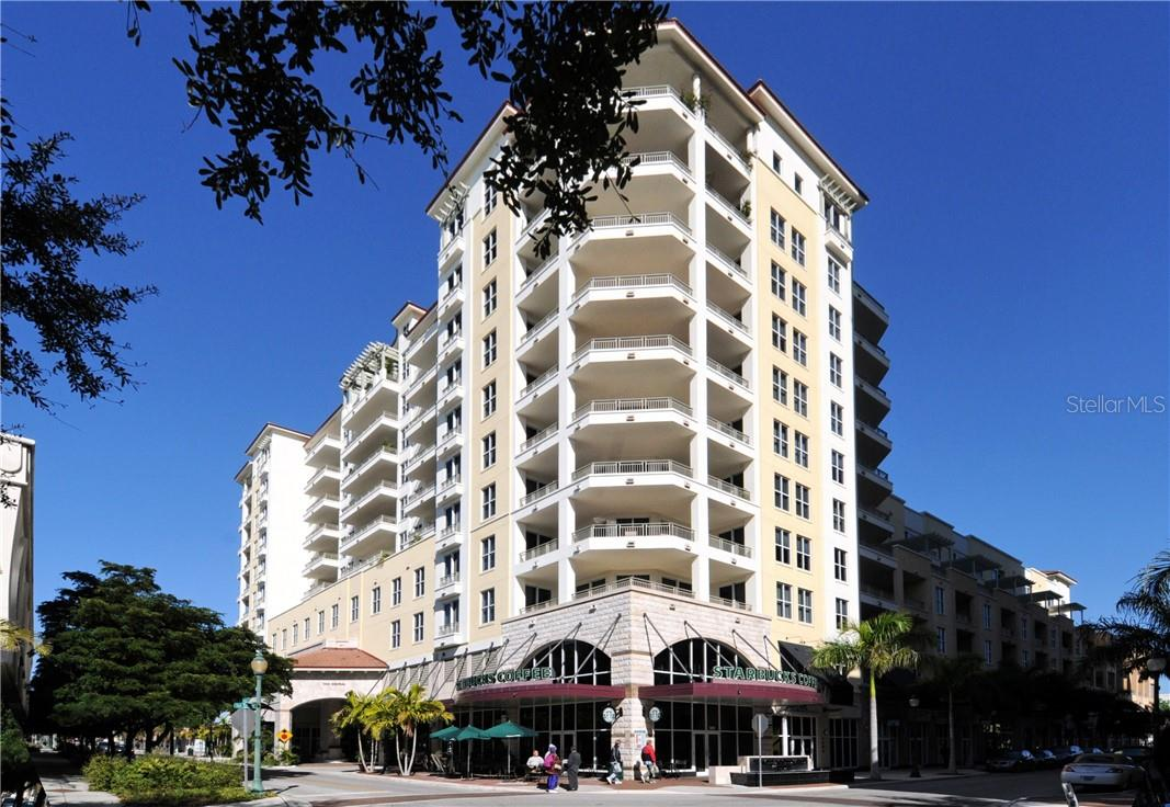 Downtown is right downstairs - Starbucks on this corner and Whole Foods on the back corner - Condo for sale at 100 Central Ave #A304, Sarasota, FL 34236 - MLS Number is A4458873