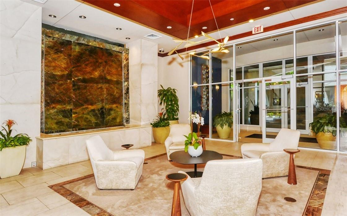 A welcoming lobby - Condo for sale at 100 Central Ave #A304, Sarasota, FL 34236 - MLS Number is A4458873
