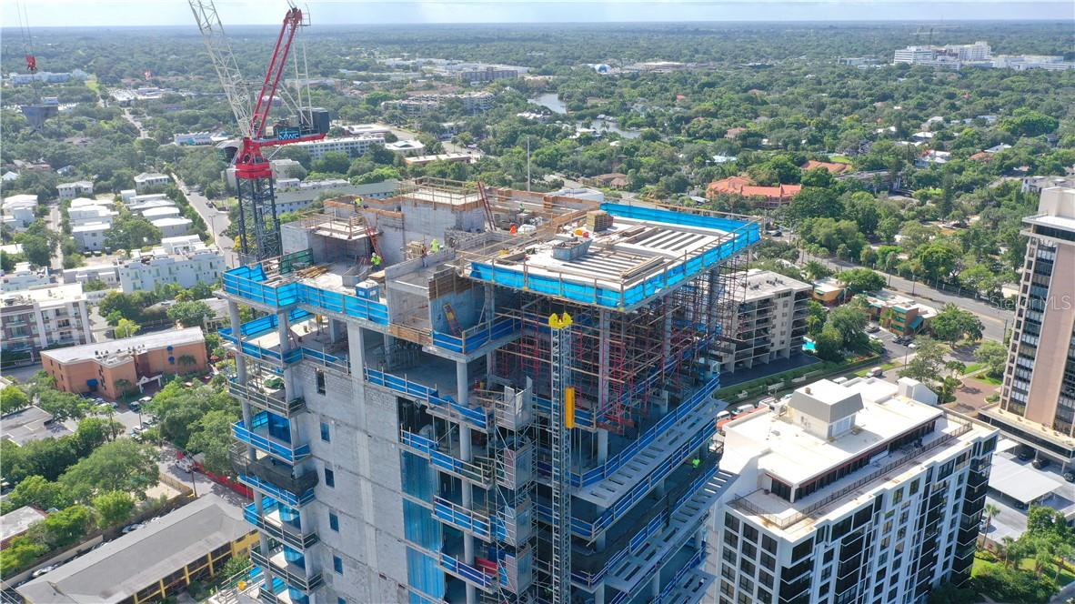 Gilbane Construction is working their way to building top off - 18 stories of pure luxury. - Condo for sale at 605 S Gulfstream Ave #Ph18, Sarasota, FL 34236 - MLS Number is A4458982