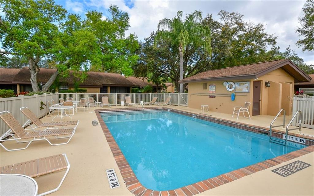 Community pool with relief stations poolside! - Condo for sale at 4613 Morningside #30, Sarasota, FL 34235 - MLS Number is A4460777