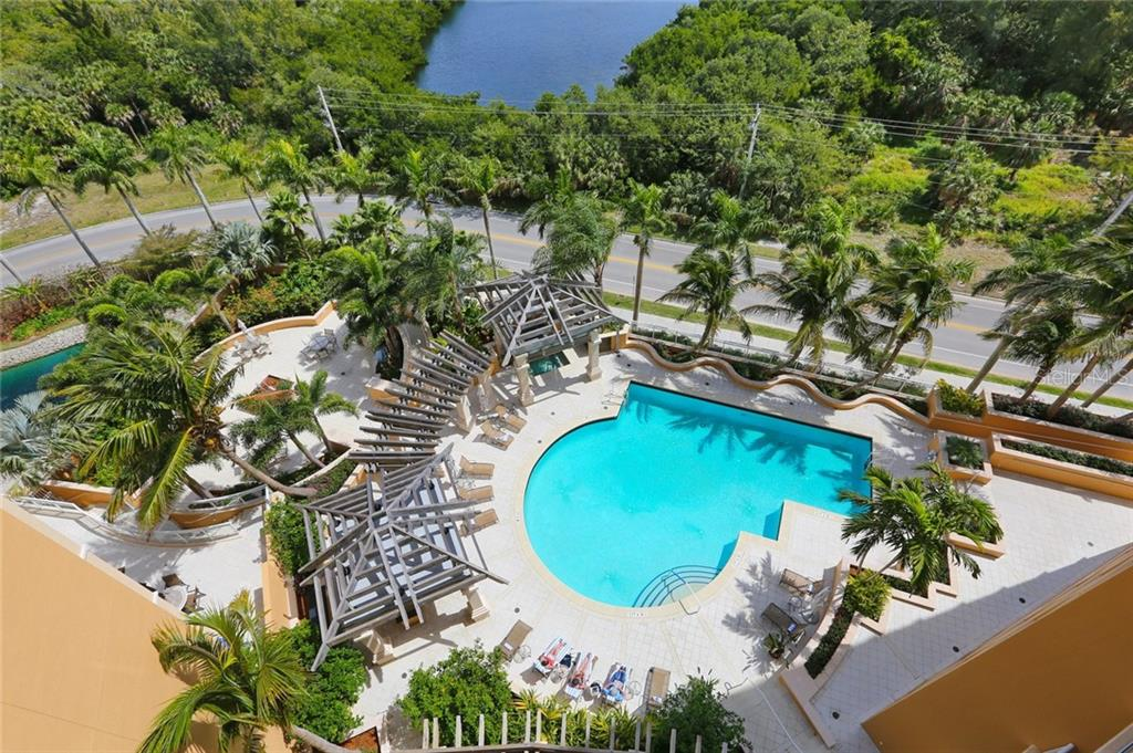 Beach Residences private heated poo/spal for owners - Condo for sale at 1300 Benjamin Franklin Dr #805, Sarasota, FL 34236 - MLS Number is A4462621