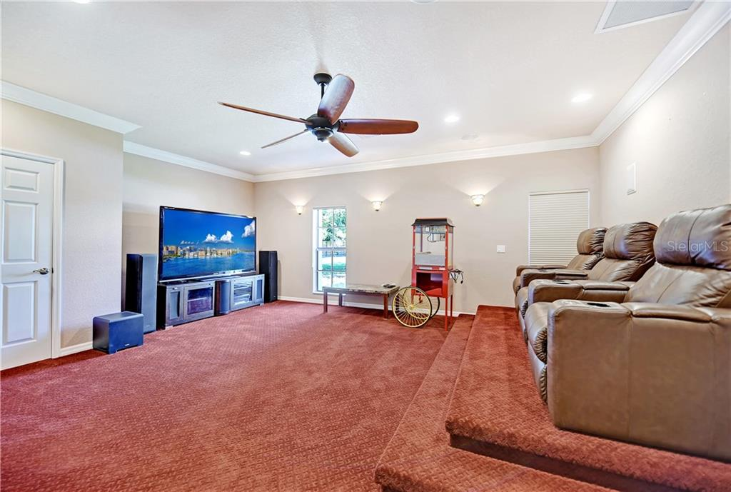 MEDIA ROOM - Single Family Home for sale at 464 E Royal Flamingo Dr, Sarasota, FL 34236 - MLS Number is A4464261