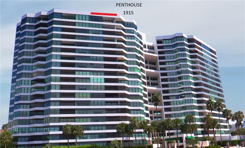 Condo for sale at 988 Blvd Of The Arts #1915 **penthouse, Sarasota, FL 34236 - MLS Number is A4466690
