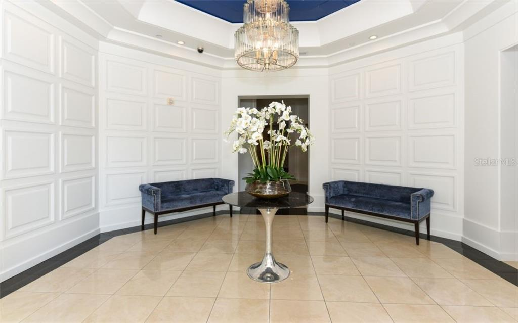 Lobby entrance - Condo for sale at 1350 Main St #1001, Sarasota, FL 34236 - MLS Number is A4472708