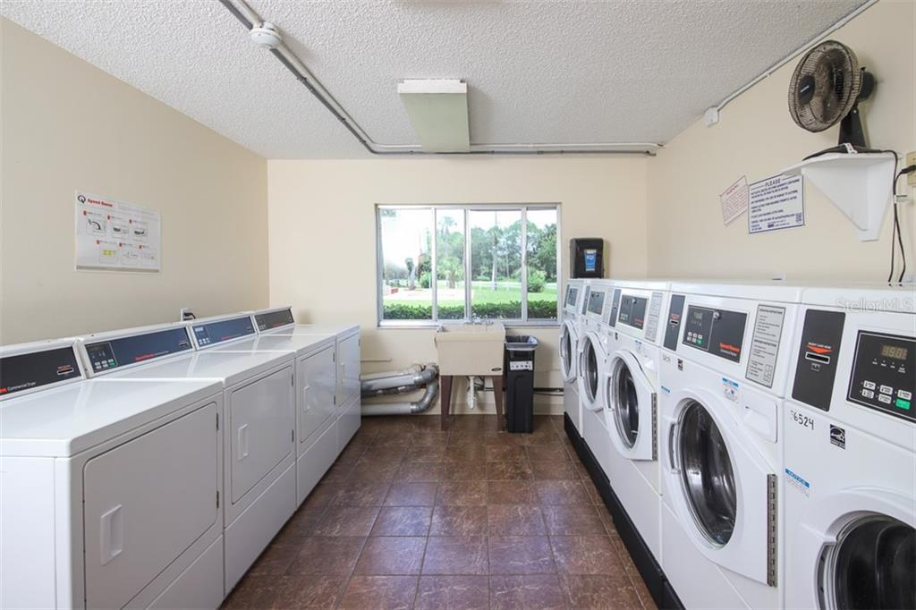 Community Laundry is a 2 minute walk away.