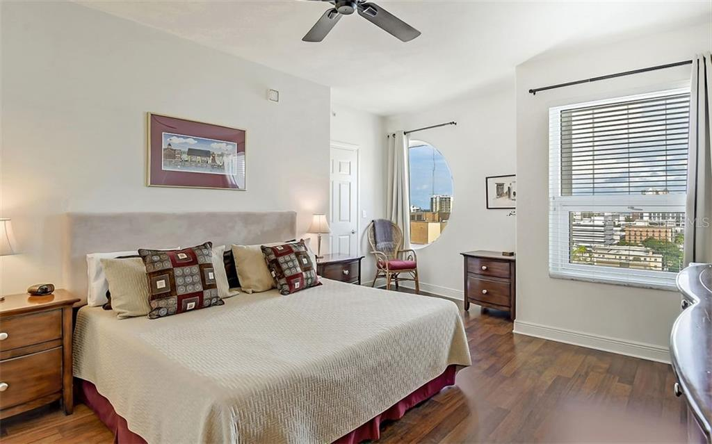 Master bedroom with city views - Condo for sale at 1771 Ringling Blvd #1110, Sarasota, FL 34236 - MLS Number is A4474683