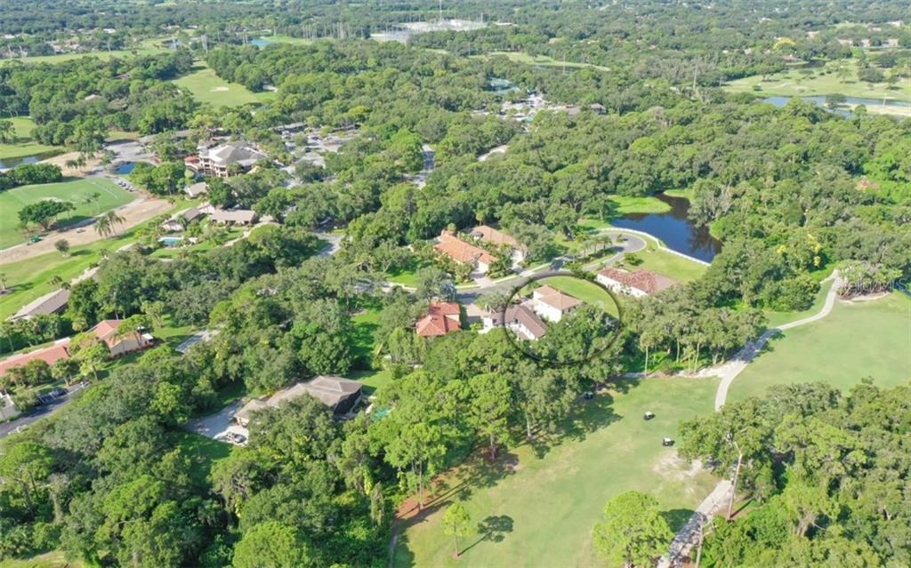 Area overview; 3538 Trebor Lane is circled - Single Family Home for sale at 3538 Trebor Ln, Sarasota, FL 34235 - MLS Number is A4475545